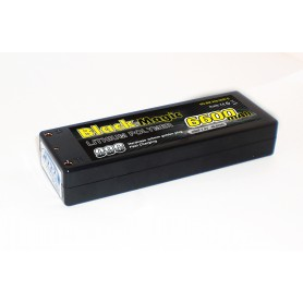 BlackMagic HardCase, 99C 6600mAh 2S2P, 7.4V Gold Plug EFRA