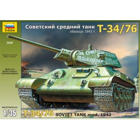 T-34/76 Soviet Tank Model 1942 1:35