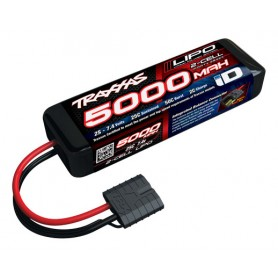 Li-Po Batteri 2S 7,4V 5000mAh 25C iD-Kontakt (Kort)