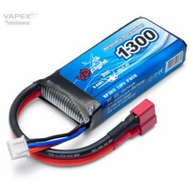 Li-Po Batteri 2S 7,4V 1300mAh 30C T-Kontakt