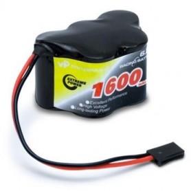 Mottagarbatteri NiMH 6,0V 1600mAh Hump