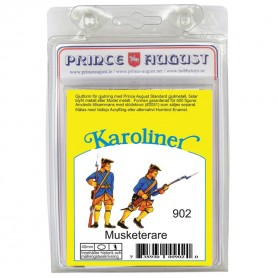 Karoliner Standing & Advancing Musketeers 40mm Scale Mould