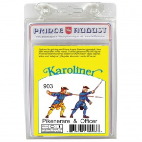 Karoliner Officer & Pikeman 40mm Scale Mould